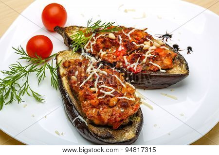 Eggplant Stuffed Minced Meat