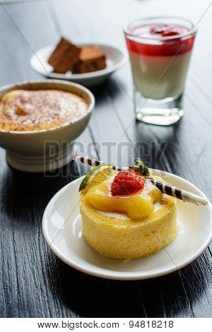 Sweet Mini Cake And Dessert