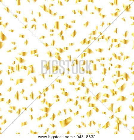 Golden glitter vector seamless pattern