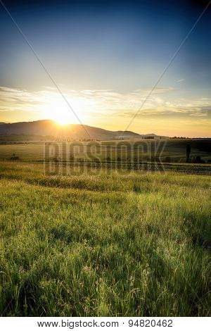 Sunset on Moldovian hills