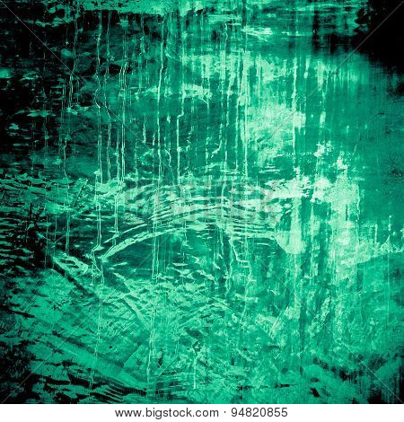 Designed Green Grunge Plastered Wall Texture, Background