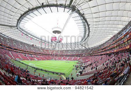 Panoramic View Of Warsaw National Stadium