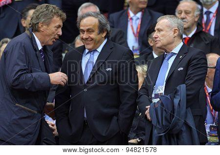 Zbigniew Boniek, Michael Platini And Hryhoriy Surkis