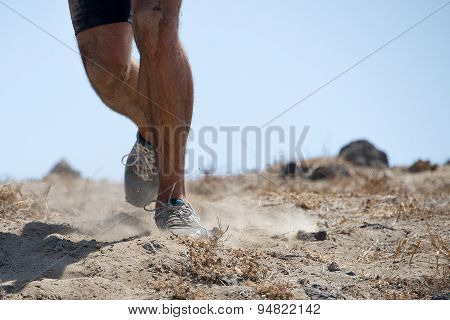 Trail running man