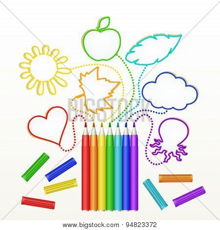 markers rainbow colors