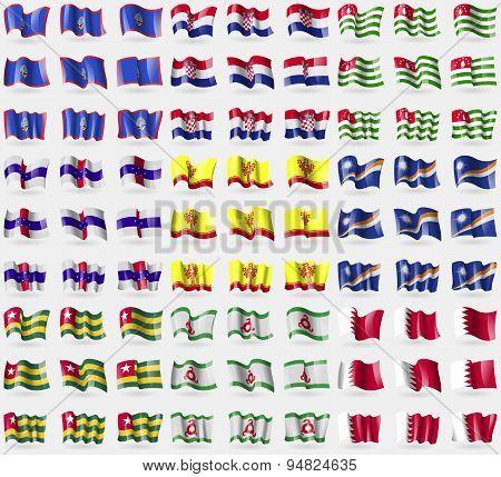 Guam, Croatia, Abkhazia, Netherlands Antilles, Chuvashia, Marshall Islands, Togo, Ingushetia, Bahrai