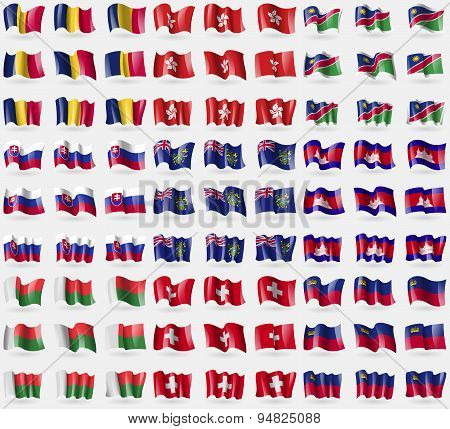 Chad, Hong Kong, Namibia, Slovakia, Pitcairn Islands, Cambodia, Madagascar, Switzerland, Liechtenste