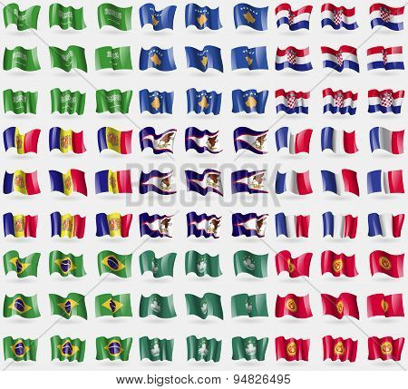 Saudi Arabia, Kosovo, Croatia, Andorra, American Samoa, France, Brazil, Macau, Kyrgyzstan. Big Set O