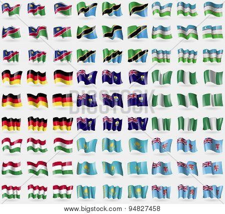 Namibia, Tanzania, Uzbekistan, Germany, Saint Helena, Nigeria, Hungary, Kazakhstan, Fiji. Big Set Of