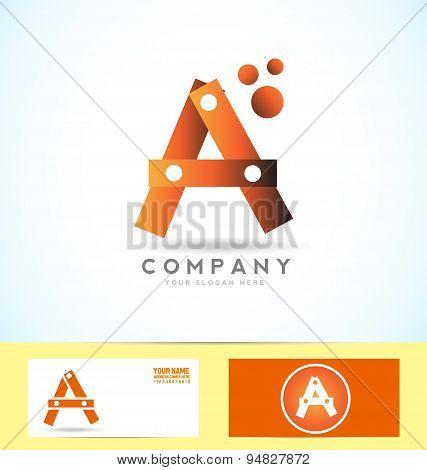 Letter A 3D Logo