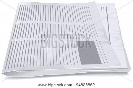 Folded newspaper tabloid