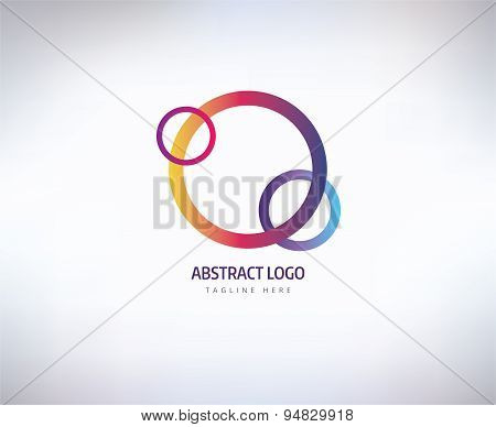Abstract vector logo elements. Logotype template, arrows and shapes. Stock illustration for design