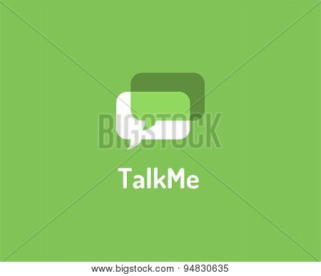 Abstract vector logo elements. Message, forum, chat and typing. Stock illustration for design