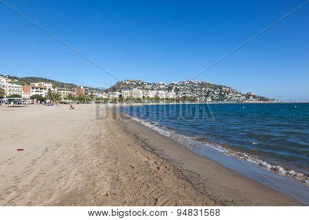 Beach In Roses, Costa Brava, Spain