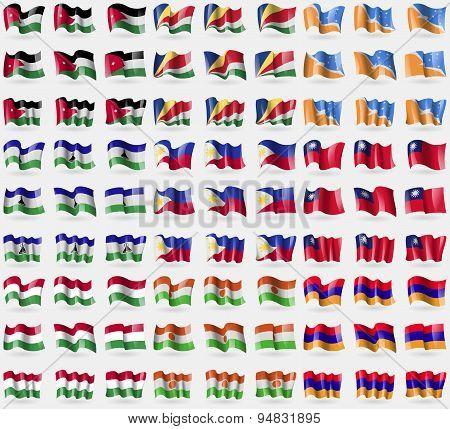 Jordan, Seychelles, Tierra Del Fuego Province, Lesothe, Philippines, Taiwan, Hungary, Niger, Armenia