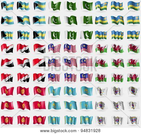 Bahamas, Pakistan, Rwanda, Sealand Principality, Malaysia, Wales, Kyrgyzstan, Kazakhstan, Saint Bart