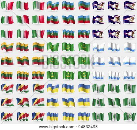Italy, Karachaycherkessia, American Samoa, Lithuania, Mauritania, Altai Republic, Seychelles, Ukrain