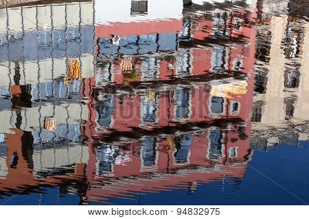 Colorful Reflection In Girona, Spain