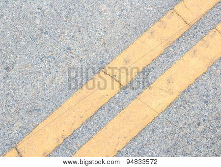 Road Marking -  Yellow Line On The Road Texture
