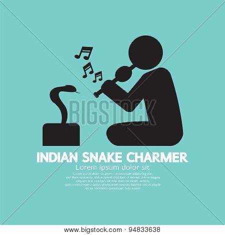 Black Symbol Indian Snake Charmer.