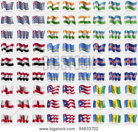 British Indian Ocean Territory, India, Uzbekistan, Syria, Aruba, Iceland, Gibraltar, Puerto Rico, Sa