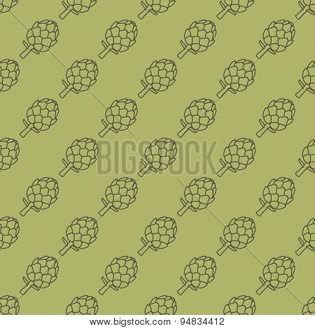 Artichoke Green Seamless Pattern