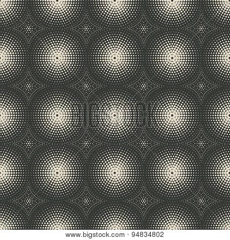 Dotted Monochrome Geometric Seamless Pattern