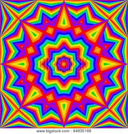 kaleidoscope bright rainbow background