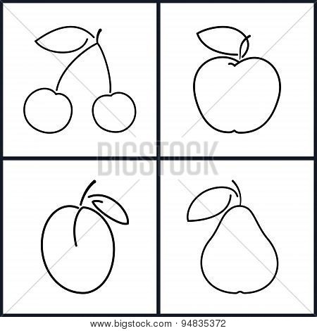 Cherry,Apple,Plum,Pear