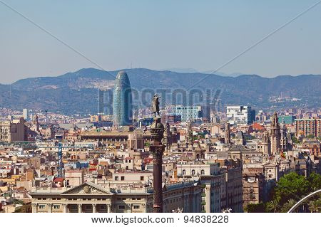 Barcelona city and Port. Spain
