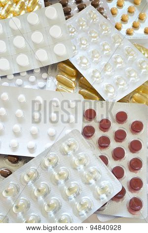 Many Various Tablets Blister Packs