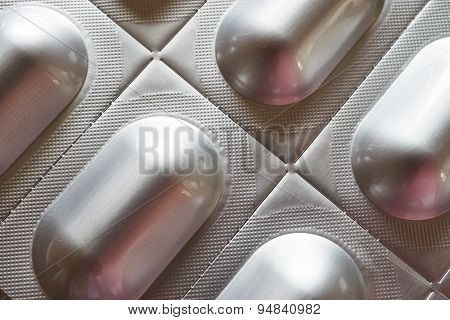 Macro Of Tablet Blister Pack