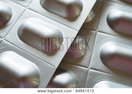 Background Of Tablet Blister Packs