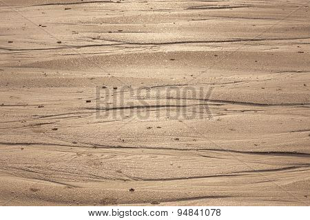 Natural sand patterns in beach