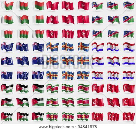 Madagascar, Isle Of Man, Namibia, Cook Islands, Aland, Mordovia, Jordan, Suridame, Turkey. Big Set O