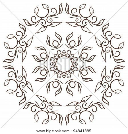 The Abstract Design Of A Circular Pattern. Round Mandala.