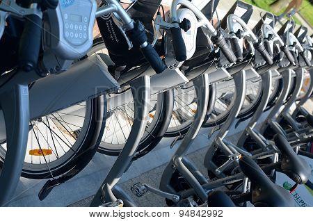 Moscow bikes.