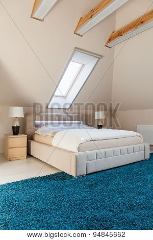 Bedroom Arranged In The Attic