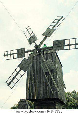 Old Wooden Windmill, Ukraine