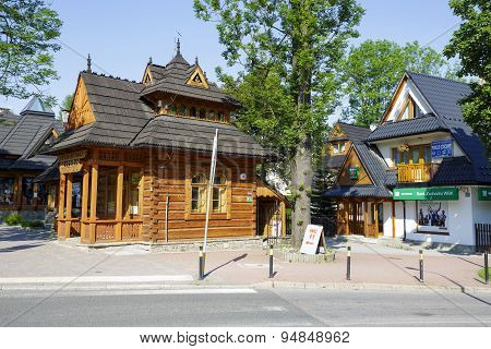 Small Wooden House Called Pocztowka In Zakopane