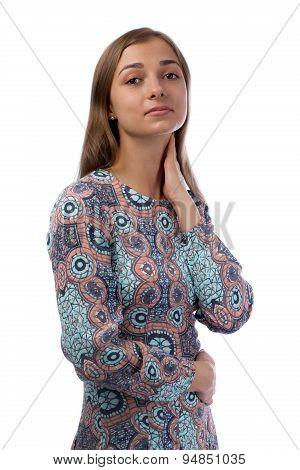 Portrait Of Young Elegant Brunette