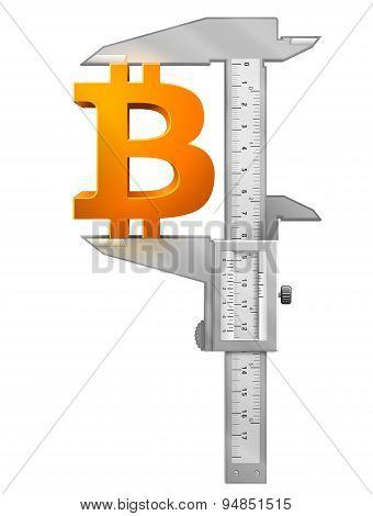 Caliper Measures Bitcoin Symbol