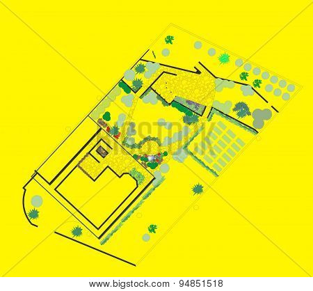 Plan Of The Site To The House