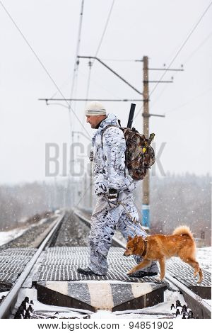 The Hunter With Dog Pass Railway