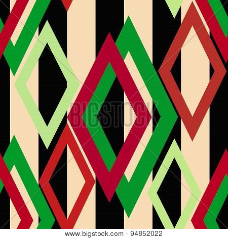 Seamless Triangle Bright Pattern Background Geometric Abstract