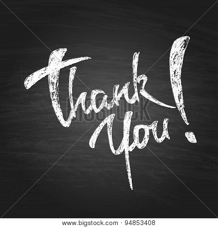 Thank You Chalk Hand Drawing Greeting Card