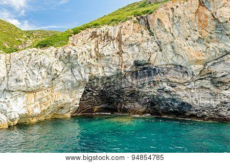 Isola D'elba (tuscany, Italy) Cliffs Detail