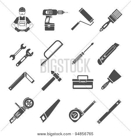 Tools Icons Black Set