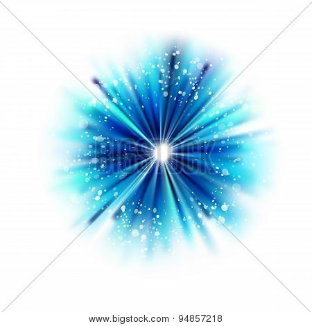 Blue Abstract Star Shape