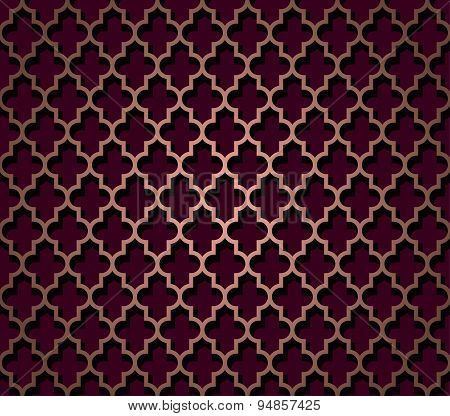 Oriental seamless pattern in brown color